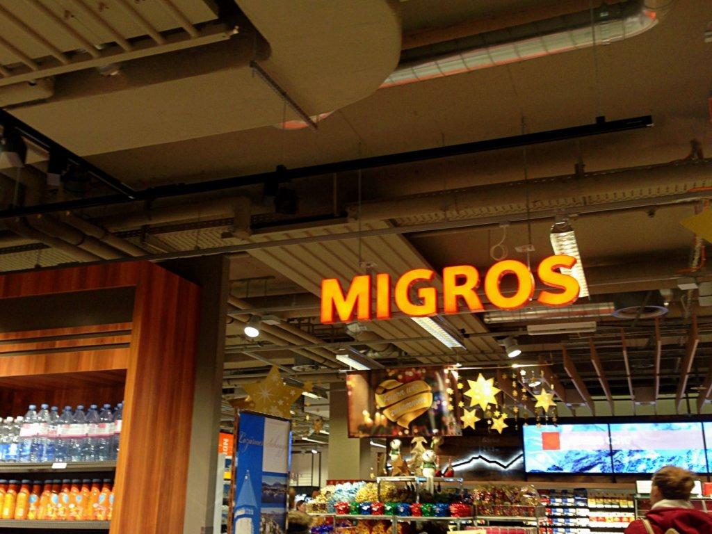 Migros is Switzerland's biggest supermarket chain.