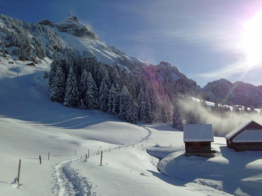 Winter in the Alpstein.